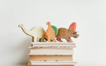 knihy s hračkami